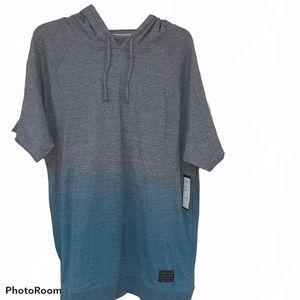 Marc Ecko cut & sew ombrè shirt hoodie size xl